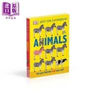 【中商原版】DK:Animals DK点点启蒙:动物 英文原版 进口图书 低幼童书 亲子纸板书 0-3岁