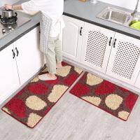 厨房地垫吸水防滑防油家用床边长条地垫地毯定制卧室脚垫厨房地毯SN4040 45*80+(优惠套装)
