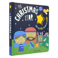 The Christmas Star 圣诞之星 闪光灯 纸板翻翻玩具书 百科科普知识 儿童英语启蒙纸板图画书 英文原版