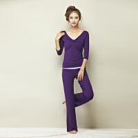 新款长袖瑜伽服套装女春夏季瑜珈服显瘦健身房愈加服女三件套