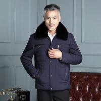 冬装中老年棉衣男加绒加厚大码爸爸装中年棉袄男冬季棉服外套