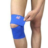 LP欧比硅胶弹性绷带691 专业运动男女护膝护腿绑带稳固支撑护具 单只