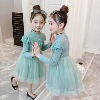 女童连衣裙秋冬装加绒2019新款小女孩公主裙宝宝儿童裙子冬