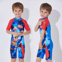 儿童连体泳衣速干防晒小童中大童分体泳装宝宝超人游泳衣