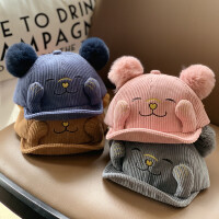 儿童帽子婴儿春秋季鸭舌帽宝宝可爱超萌洋气秋冬季