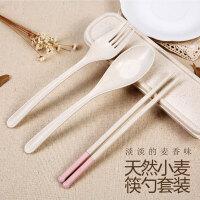 依蔓特日式便携餐具三件套 韩版学生创意叉子勺子筷子套装