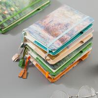 日程本文具商务效率手册复古皮面记事笔记本子创意学生商务手帐本盒装日程计划本