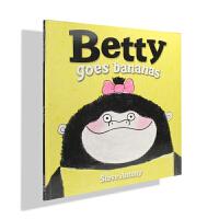 牛津原版英文绘本/Betty Goes Bananas贝蒂拿到了香蕉