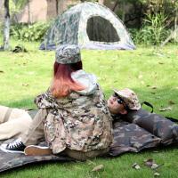 帐篷垫防潮垫户外床垫加厚折叠野外自动充气垫单人睡垫便携 从林迷彩 九点