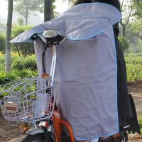 夏季电动车防晒挡风被电瓶摩托车防水防风护膝防晒罩骑行防雨纯色款