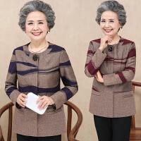 中年妈妈春秋外套短款40-50岁新款上衣中老年女装春装毛呢外套