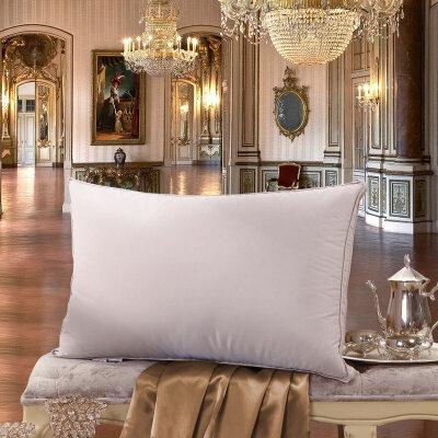 水星家纺 赛尔莎鹅绒鹅毛枕单人枕头柔软枕芯单人舒适枕床上用品 防羽面料 立体立衬 饱满填充