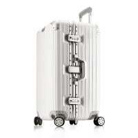 32寸行李箱男超大容量厚拉杆密码箱出国托运商务万向轮28铝框防刮 黑色 升级版 黑色