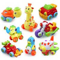 拆装玩具儿童工程车男孩螺丝螺母组合拼装拆卸益智玩具3-4-6周岁
