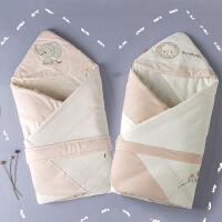 彩棉城堡 婴儿用品秋冬彩棉新生儿婴儿彩棉抱被纯棉包被包毯新生儿毯子棉被