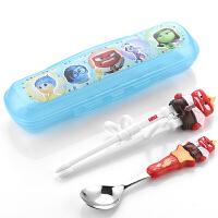 迪士尼餐具儿童学习筷子宝宝训练筷辅助筷练习筷勺子套装调羹