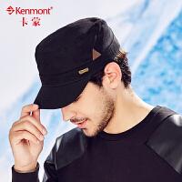 kenmont男士帽子春夏韩版纯棉鸭舌帽户外潮男帽军帽平顶帽棒球帽2420