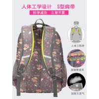 卡拉羊书包中学生女初中生大容量韩版轻便背包小学生高中生双肩包