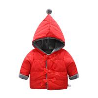 女婴儿衣服秋装外套1岁3男宝宝加厚保暖秋冬装