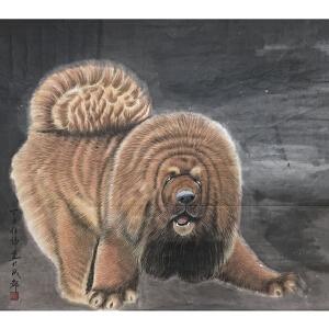 任伟 工笔(藏獒)中国美术家协会会员、著名工笔画画家