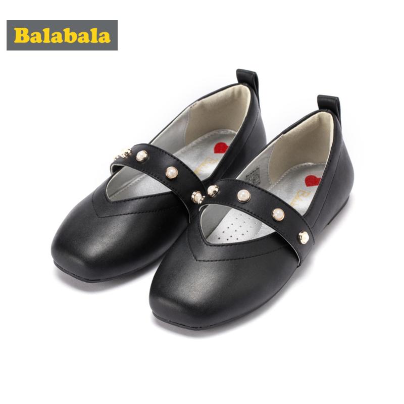巴拉巴拉童鞋女童皮鞋公主鞋新款秋季中大童儿童鞋子女单鞋潮
