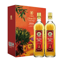 西班牙进口 莉莎贝拉 特级初榨橄榄油 500ml*2 简装礼盒