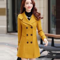 呢大衣女中长款2016冬季韩版新款修身气质百搭仿羊毛妮子毛呢外套