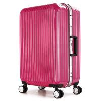 七夕礼物新品时尚PC材质万向轮拉杆箱旅行箱行李箱铝框登机箱