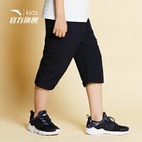 安踏儿童大童七分裤儿童官方旗舰店男童裤运动裤子