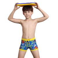 YINGFA英发 男童印花休闲系带沙滩裤Y0223 儿童机械人图案平角泳裤
