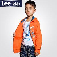 LEE童装 秋季新品男童时尚休闲上衣 中大童儿童连帽卫衣外套