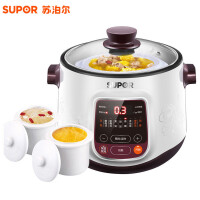 苏泊尔(SUPOR) DZ22YC806-40隔水电炖锅白瓷煮粥锅燕窝炖盅煲汤锅