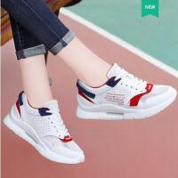 莱卡金顿夏季新款休闲鞋网面透气女鞋隐形内增高春季运动鞋妈妈鞋单鞋LJLK6497