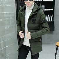 男士棉衣外套冬季新款冬装韩版潮流帅气中长款休闲棉袄厚