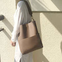 女包大容量韩风大包单肩韩版包女复古手提包简约新款休闲大容量女士拎包白色斜挎包
