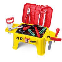 儿童节礼物 男孩儿童过家家玩具 工具椅多功能拆装维修工具箱早教玩具 益智启蒙早教 贝恩施工具凳P6