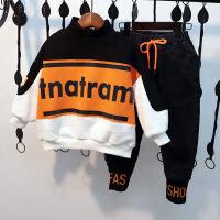 男童套装洋气秋冬装儿童加绒两件套