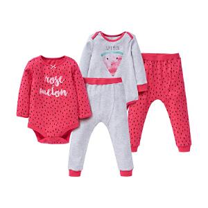 【加拿大童装低至19元】GagouTagou婴儿春秋长袖哈衣男女两用宝宝纯棉保暖春装