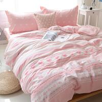 简约棉四件套棉床上用品三件套卡通学生宿舍床单床笠秋季
