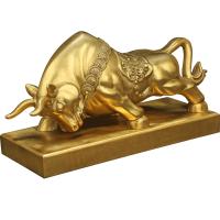纯铜铜牛摆件 华尔街牛大号招财工艺品开业礼品摆设0028