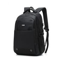 男士双肩包帆布韩版休闲旅行背包男包时尚潮流电脑包中学生书包女