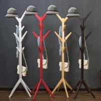 衣帽架 简易木质落地衣帽架 客厅卧室简约实用方便挂衣架收纳架