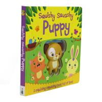 Squishy Squashy Puppy 低幼宝宝启蒙押韵英语绘本幼儿益智纸板宠物狗玩偶书 仿真动物柔软可回弹可爱玩
