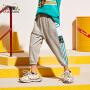 小虎宝儿男童七分短裤夏季纯棉2021薄款儿童外穿中大童韩版