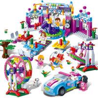 小颗粒积木媚力都市派对积木拼装积木儿童女孩玩具