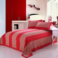 5股21织纱加厚老粗布线毯棉毯双人三件套床单