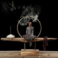 无名堂 禅意小和尚如来佛像创意家居茶道香道陶瓷茶宠工艺品摆件