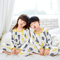 儿童睡衣春秋长袖内衣套装中大童宝宝家居服保暖两件套