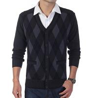 中老年男士老人毛衣羊毛开衫针织衫春装外套羊毛衫爸爸装大码V领