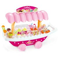 �和�玩具女孩�^家家3-6�q�Y物 ����迷你音��艄獗�淇淋糖果推�